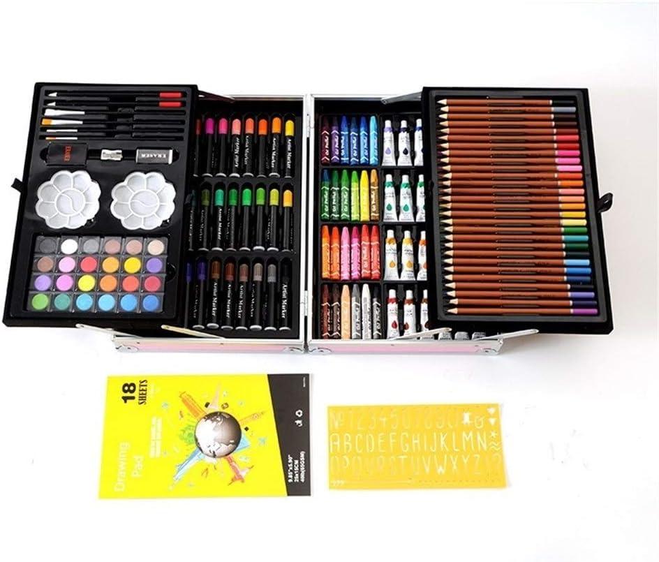 絵筆セット 児童画文房具セット水彩ペンギフトボックスアートブラシ 塗り絵