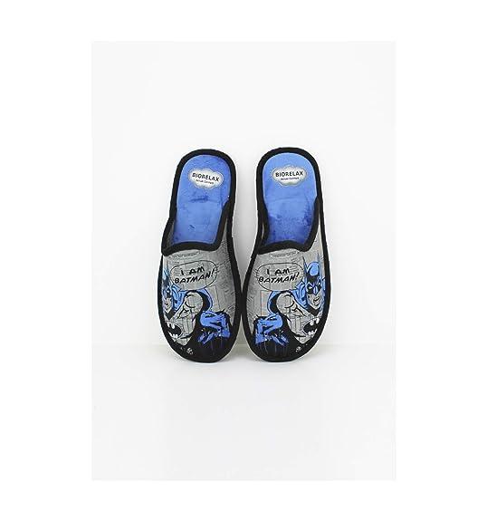 Zapatillas Biorelax - Hombre Detalle Batman - Negro, 41: Amazon.es: Zapatos y complementos
