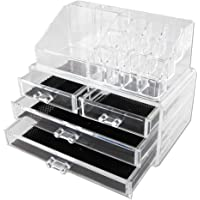 Vencer Jewelry Makeup Storage Display Boxes (1 Top 4 Drawers),Cosmetic Organizer