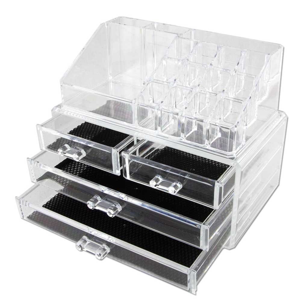 Vencer Jewelry and Makeup Storage Display Boxes (1 Top 4 Drawers),Cosmetic Organizer