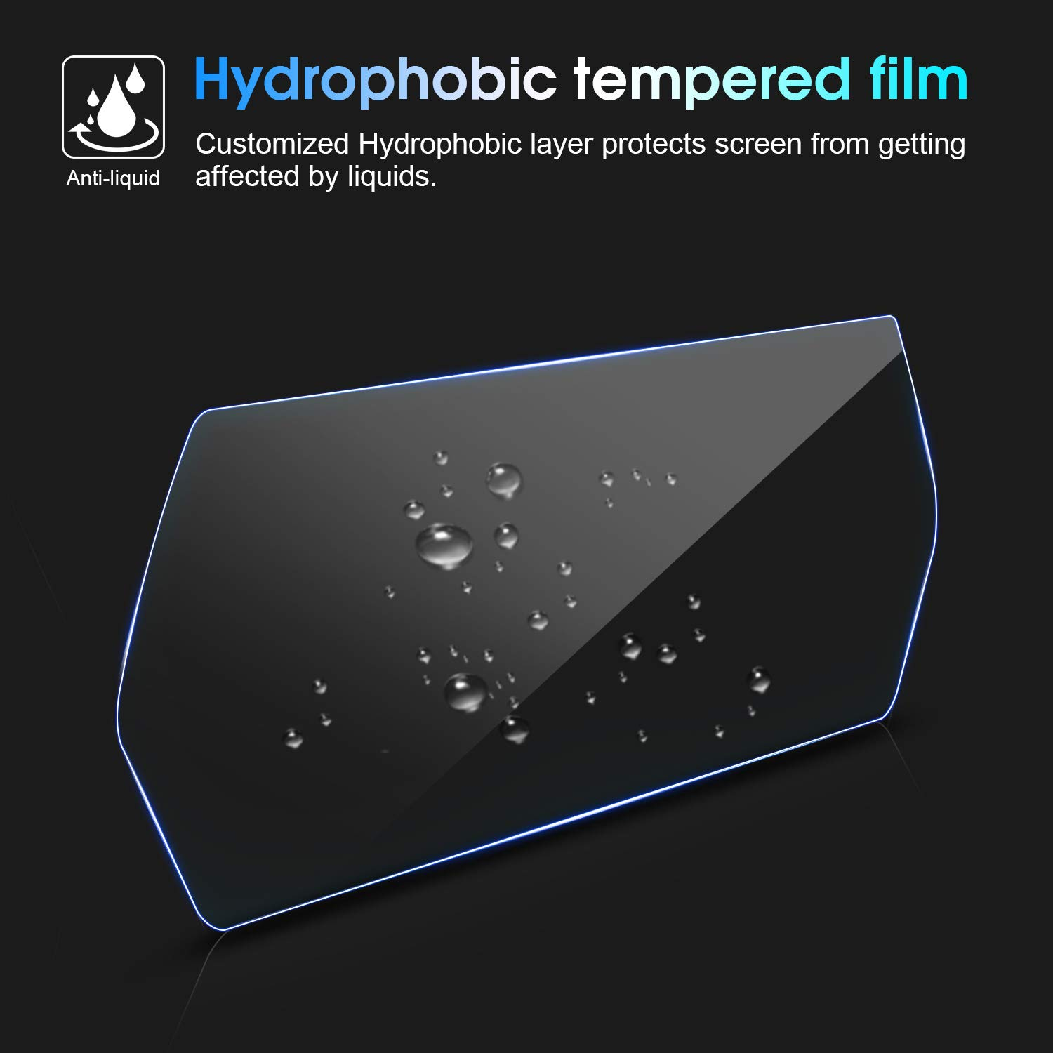 Anti-Scratch and Shock Resistant//Anti-Explosion OLAIKE Car Instrument Panel Screen Protector for Tesla Model X//Model S 12.3 9H Ultra Slim High Definition Vision Waterproof Tempered Glass