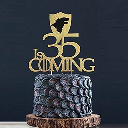 KISKISTONITE Winter Is Coming Theme Cake Toppers Game Of Thrones Fans Personalized Name Decoration