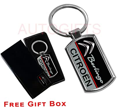 AUTOGIFTS Llavero con Logotipo de autógrafos para Citroen ...