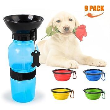 Yongwoo-well - Taza para perro (1 unidad), portátil, botella de