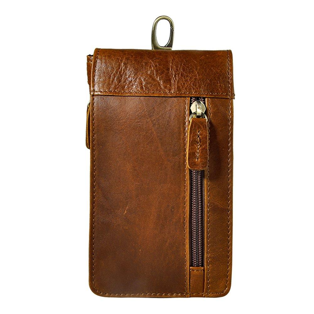 Genda 2Archer Mens Leather Belt Hook Waist Bag Purse Fanny Pack