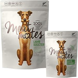 Meat Mates Grain-Free Dog Lamb Booster 14oz and Lamb Dinner 4.5oz Bundle