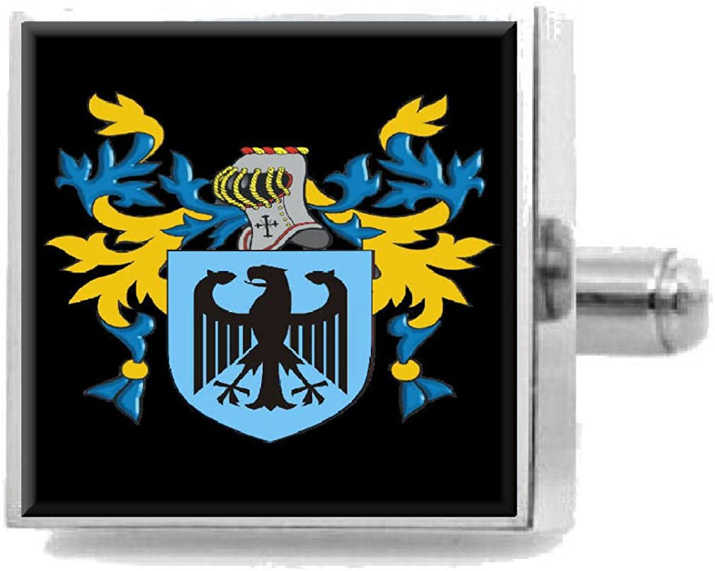 Select Gifts Soffmann England Heraldry Crest Sterling Silver Cufflinks Engraved Box