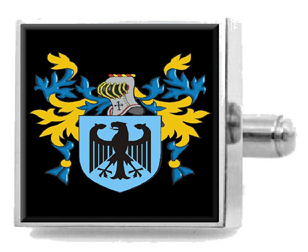 Select Gifts Alderson England Heraldry Crest Sterling Silver Cufflinks Engraved Box
