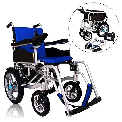 Aleación de aluminio Doble motor Eléctrico Silla de ruedas Plegable Anciano Scooter Inteligente Completamente automatico Batería