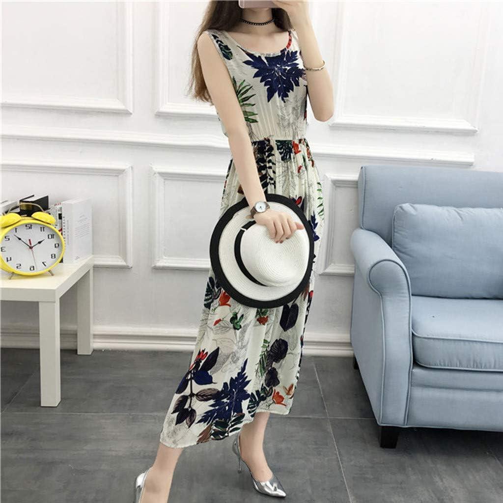 ZHENBAO Womens Dresses Summer Square Neck Sleeveless Vintage Plaid Print Beach Mini Dress