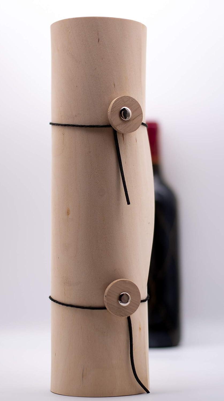 Teklacrafts faite à la main en bois véritable Vin Container