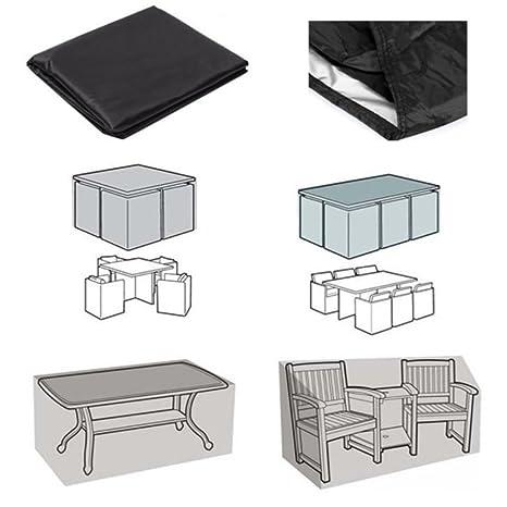 Xiliy Funda para Muebles de Jardín Impermeable Funda para Mesa para Mobiliario de Exterior Mesa (123 x 123 x 74 cm)