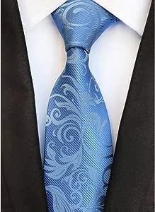 WOXHY Corbata Nuevo diseño 8 cm Floral marrón Corbatas Blancas ...