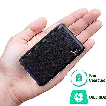 Power Bank 10000mAh Cargador Portátil con Gran Capacidad y Doble Salida USB (5V / 2.4A) para IPhone/Samsung/Tablets, Batería Externa de Carga de Alta ...