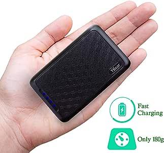 Power Bank 10000mAh Cargador Portátil con Gran Capacidad y Doble Salida USB (5V / 2.4A) para IPhone/Samsung/Tablets, Batería Externa de Carga de Alta Velocidad, Pequeña y Liviana para Trabajas Viajas