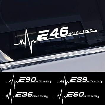 FSXTLLL Coche Ventana Pegatina, para BMW E46 E90 E91 E60 E39 E36 E87 E92 E30 E34 E46 E61 E62 E93: Amazon.es: Deportes y aire libre