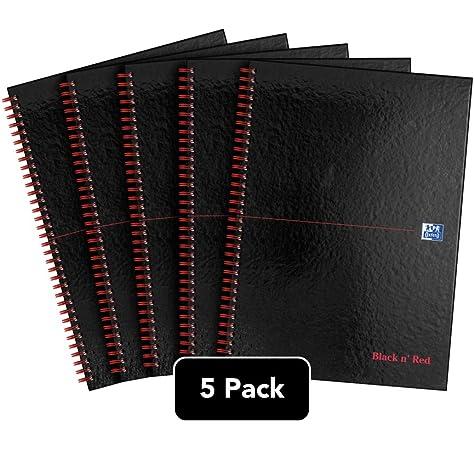 Oxford Black n Red - Cuaderno A4 con encuadernación de, de 140 páginas, tapa dura y de color negro y rojo Pack of 7: Amazon.es: Oficina y papelería