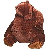 Big Simulation Brown Bear Plush Toy Stuffed Animal Giant Mr.Boss Teddy Bear Plush Doll Pillow Soft Cushion Kids Birthday