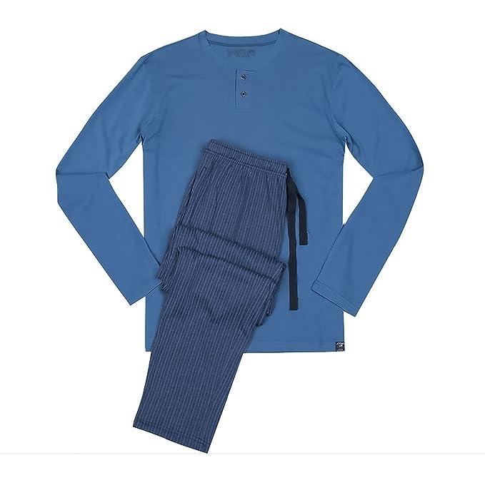 Jockey Pijama Grande Azul con Pantalones a Rayas, 2xl-8xl:2XL