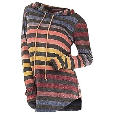 Rosegal Sweat-Shirt à Capuche Arc-en Ciel Femme Automne Manche Longue  Hoodie Femme  Amazon.fr  Vêtements et accessoires 2b84e5a9f43