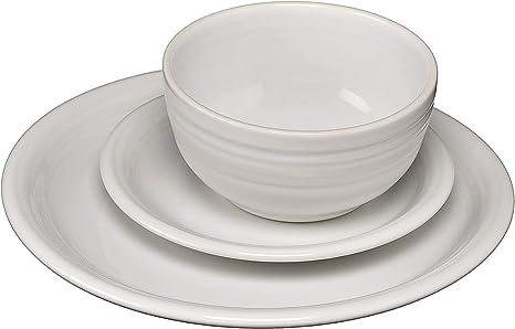 Amazon Com Fiesta 3 Piece Bistro Set White Dinnerware Sets