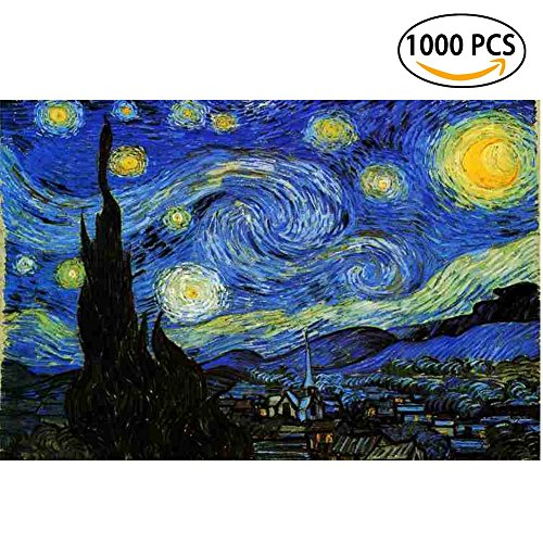 Cheap  Jigsaw Puzzles 1000 Pieces Starry Night Vincent Van Gogh Artwork Art for..