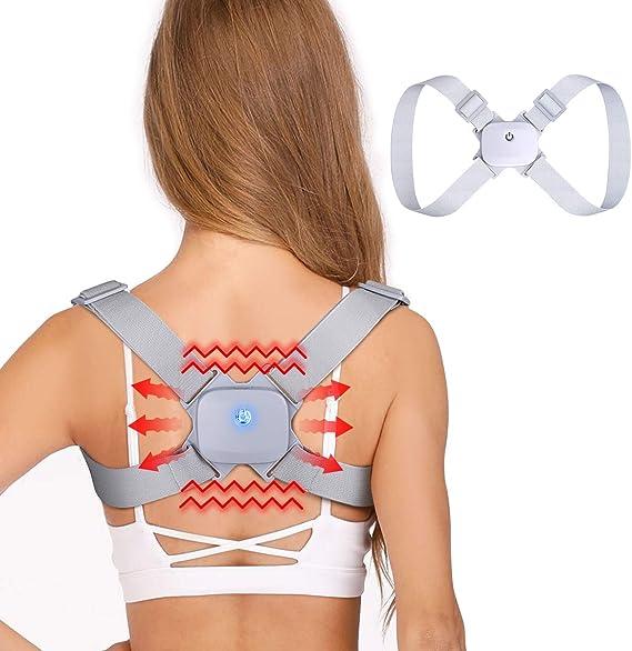 Posture Corrector for Women Men Kids Smart Posture Back Shoulder Brace - Adjustable Back Straightener - Comfortable Upper Back Brace for Clavicle Support