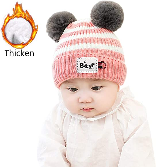 Cute Baby Beanie Cap Boy Girl Toddler Infant Children Knitted Warm Hat Welcome