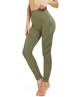 b05093ca4a09d4 MOYOOGA Womens High Waisted Mesh Seamless Leggings Gym Tights Workout Yoga  Pants