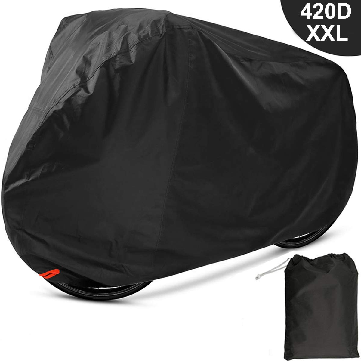 EUGO Bike Cover 2 or 3 Bikes Outdoor Waterproof Bicycle Motorcycle Covers XXL 420D Oxford Fabric Rain Sun UV Dust Wind Proof Mountain Road Electric Bike