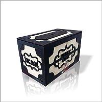 M3Decorium DKM3MONBNKBUYSYH Geniş Büyük Ebat Gizli Kapaklı Kilitli Tip Box Money Bank Yazılı Demir Kağıt Para Için Kumbara Kutu