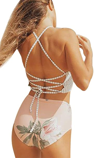 Amazon.com: JINTING - Bikini floral para mujer y adolescente ...