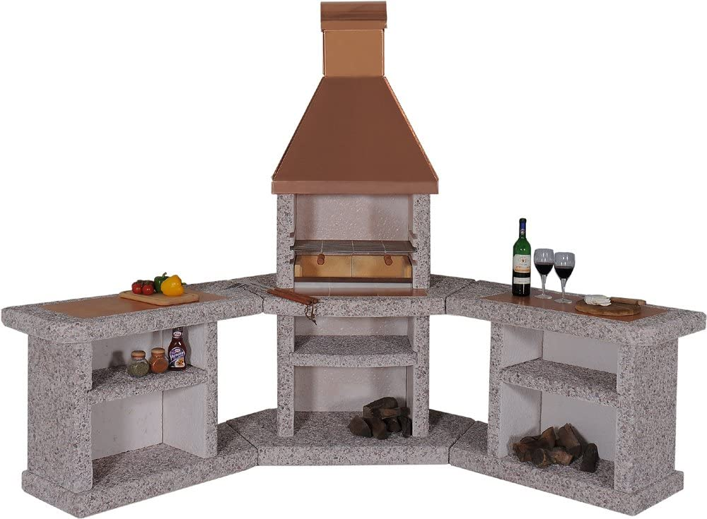 Wellfire Toskana koperen barbecue open haard buitenkeuken