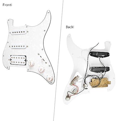 ammoon 3 capas golpeador guitarra eléctrica caricato Pastilla Humbucker Pickups Set for Fender Strat ST guitarra eléctrica: Amazon.es: Instrumentos ...