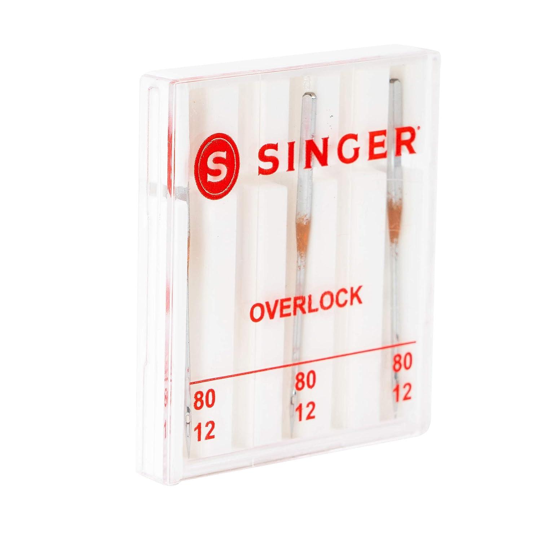 Size 80//12 3-Pack Singer Universal Regular Point Overlock Machine Needles for Woven Fabric