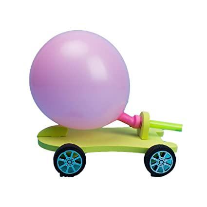 Balloon Car Vehicle DIY Build Kit Project Kids Science Experiment Creative Toys