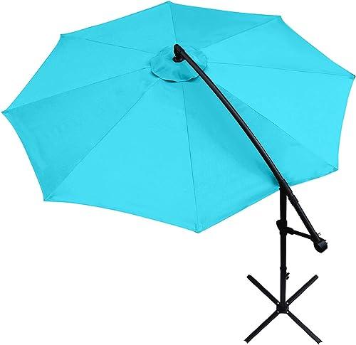ABCCANOPY Patio Umbrellas 10 FT Outdoor Market Umbrella Cantilever Umbrella Offset Hanging Umbrellas