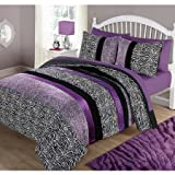 Your Zone Purple Pieced Animal Bedding Comforter Set - TWIN