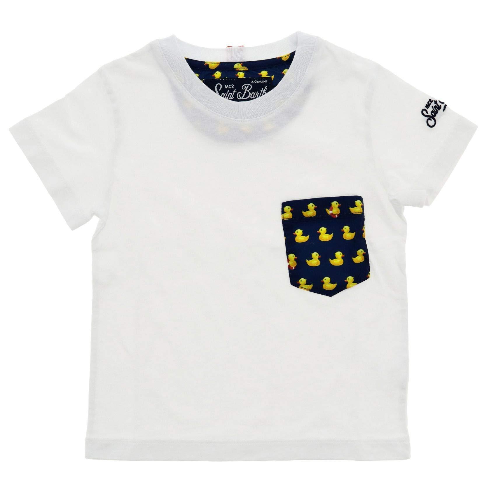 MC2 SAINT BARTH Boys Keaducky01 White Cotton T-Shirt