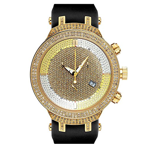 Joe Rodeo JJM9 Master Man Diamond Watch, Gold Dial with Black Band