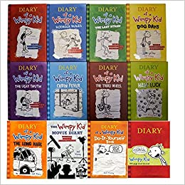 Diary of wimpy kid 12 book complete set books 1 9 movie diary diary of wimpy kid 12 book complete set books 1 9 movie diary diy journal amazon books solutioingenieria Images