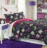 Brunton International, Inc 30737AM Skulls II Mini Comforter Set - Full, 3 Piece