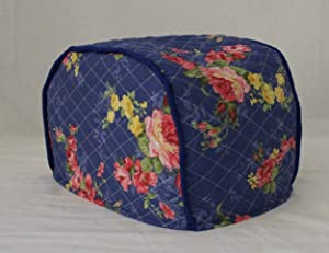 Simple Home Inspirations Premium Quilted Toaster Cover (4 Slice Reg, Blue Floral)