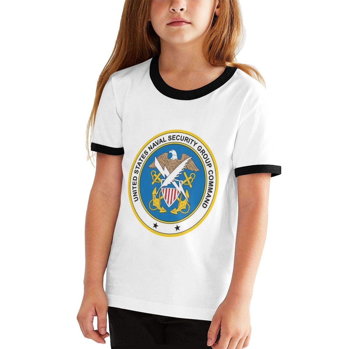 Kids Or Little Boys and Girls US Navy Naval Security Group Command Unisex Childrens Short Sleeve T-Shirt