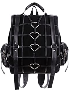 Restyle - HEAVY HEART BAG - Gothic Black Satchel, Backpack