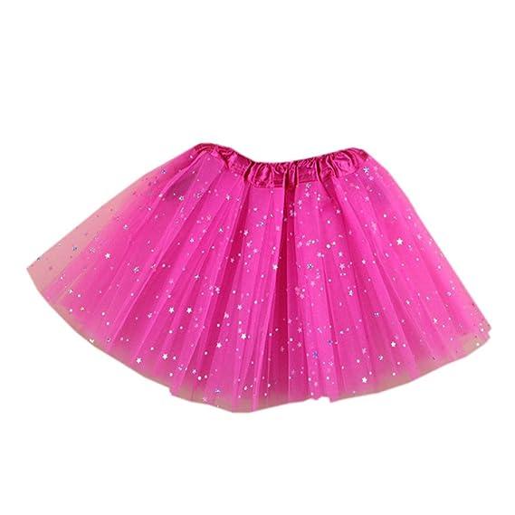 PJPYIF Niñas tutu Glitter Danza Ballet Faldas de tutú 4-10 Años ...