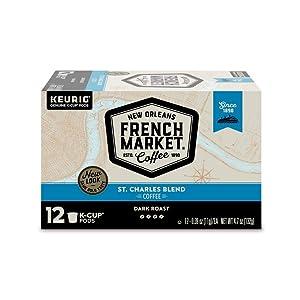 French Market Coffee Dark Roast Keurig K-Cups, 48 Count