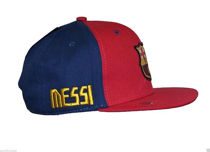 f1388be8e75 Fc Barcelona Lionel Messi Snapback Youth Kids Adjustable Cap Hat ...