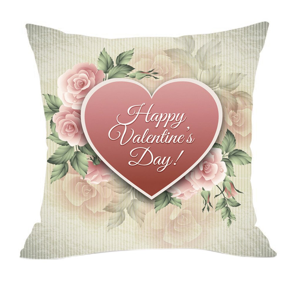 Amazon.com: Throw Pillow Cover, DaySeventh Valentines Day ...