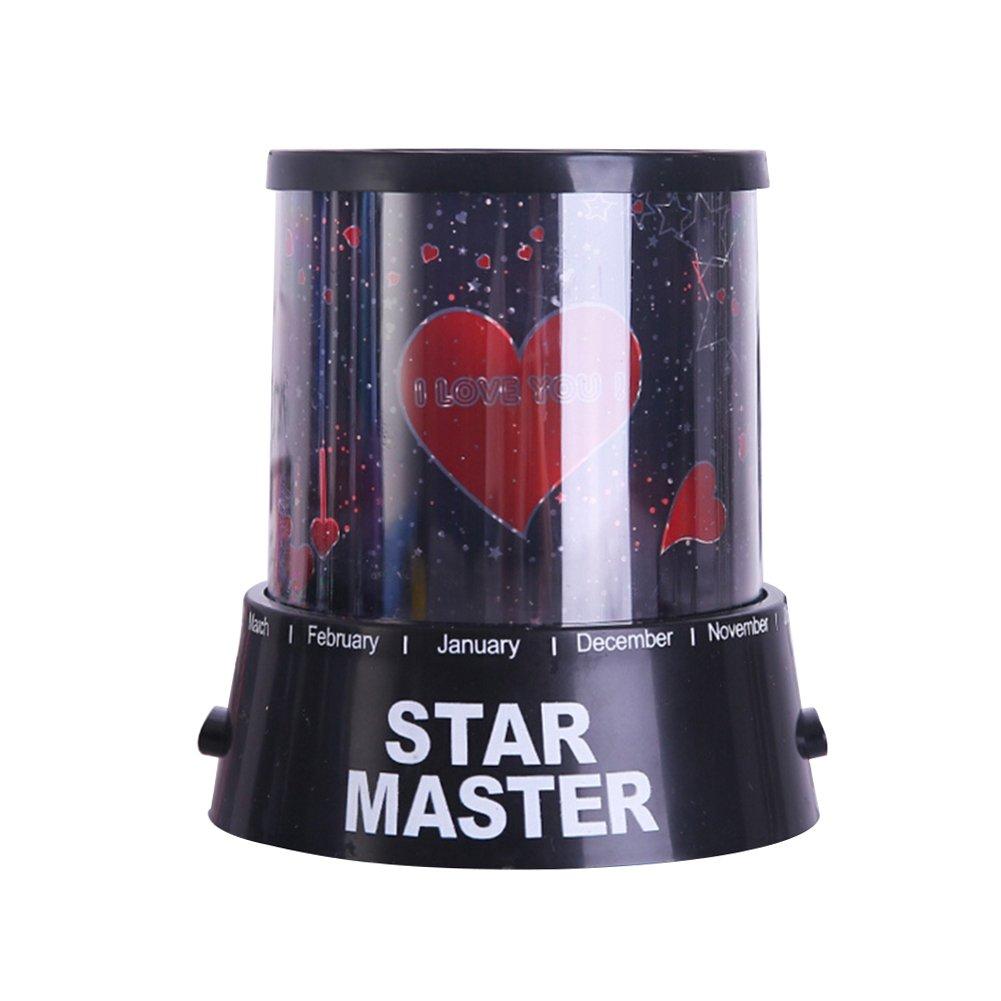 unetox Star Master星空スタープロジェクターランプロマンチックコスモススターナイトライト子供寝室装飾 B078HYZHCZ 12337  I Love U